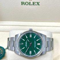 Rolex Acero Automático Verde Sin cifras 41mm nuevo Oyster Perpetual