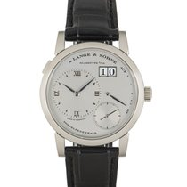 A. Lange & Söhne pre-owned Manual winding 38.5mm Silver (solid) Sapphire crystal