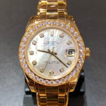 Rolex Pearlmaster Yellow gold 34mm Mother of pearl No numerals United Kingdom, Leicester