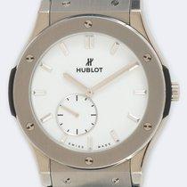Hublot Classic Fusion Ultra-Thin подержанные 45mm Белый Кожа аллигатора