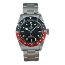 Tudor Steel Automatic Black No numerals 41mm pre-owned Black Bay GMT