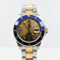 Rolex Submariner Date Steel 40mm Blue No numerals