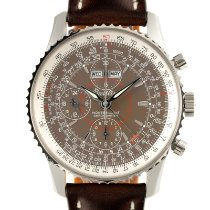 Breitling Montbrillant Datora Steel 42mm Brown