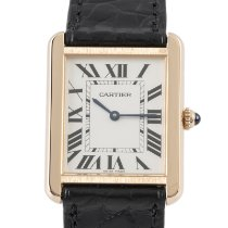 Cartier Tank Solo W5200025 Very good Yellow gold 28mm Quartz