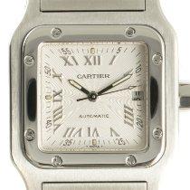 Cartier Santos Galbée Stahl 29mm Silber