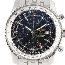 Breitling Navitimer World Staal 46mm Zwart