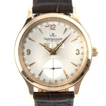 Jaeger-LeCoultre Master Calendar pre-owned 37mm Silver Date Weekday Month Crocodile skin