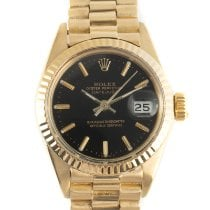 Rolex Lady-Datejust Yellow gold 26mm Black