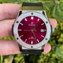 Hublot Classic Fusion 45, 42, 38, 33 mm pre-owned 45mm Red Rubber