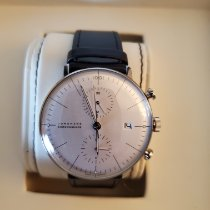 Junghans max bill Chronoscope Steel 40mm White No numerals United States of America, Virginia, Ashburn