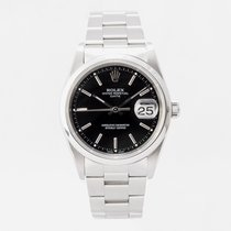 Rolex Oyster Perpetual Date Steel 34mm Black No numerals United Kingdom, Guildford,Surrey