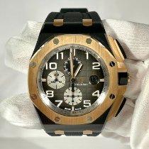 Audemars Piguet Rose gold Automatic Black Arabic numerals 44mm pre-owned Royal Oak Offshore Chronograph