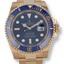 Rolex Yellow gold Blue 40mm Submariner Date