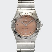 Omega Constellation Quartz Steel Pink Singapore