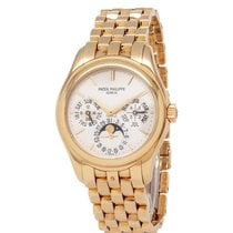 Patek Philippe Perpetual Calendar Yellow gold 36mm Silver United States of America, New York, Hartsdale