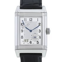 Jaeger-LeCoultre Reverso Grande Date pre-owned Silver Leather