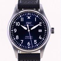IWC Fliegeruhr Mark Stahl 40mm Blau Arabisch