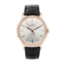 Zenith Rose gold Automatic Silver No numerals 42mm pre-owned Elite 6150