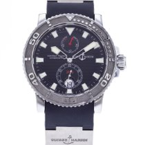 Ulysse Nardin Steel Automatic Black 42.7mm pre-owned Maxi Marine Diver