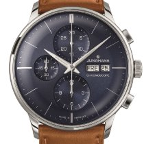 Junghans Meister Chronoscope Steel 41mm Blue No numerals