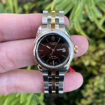 Tudor Glamour Date pre-owned Black Gold/Steel