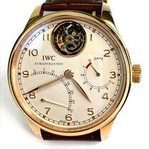 IWC Oro rosa Automático Plata Arábigos 44.2mm usados Portuguese Tourbillon