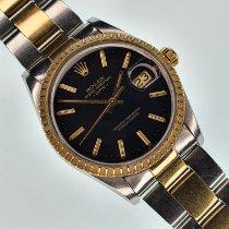 Rolex Oyster Perpetual Date Gold/Steel 34mm Black Indonesia, Jakarta