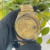 勞力士 Day-Date II 黃金 41mm 金色 羅馬數字