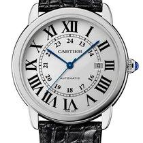 Cartier Ronde Solo de Cartier Stahl 42mm Silber Römisch