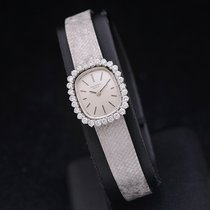 Universal Genève White gold Manual winding Silver No numerals 17,70mm pre-owned