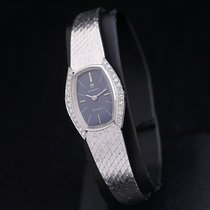 Omega White gold Manual winding Blue No numerals 19mm pre-owned Genève