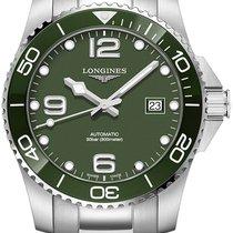 Longines HydroConquest Steel 43mm Green Arabic numerals
