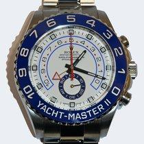 勞力士 Yacht-Master II 鋼 44mm 白色 無數字