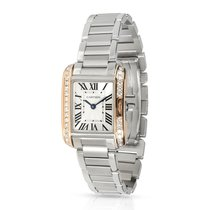 Cartier Tank Anglaise pre-owned 23mm Silver Steel