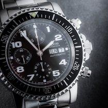 Epos Sportive Steel 44mm Black Arabic numerals