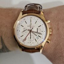 Breitling Transocean Chronograph GMT Rose gold 43mm White No numerals