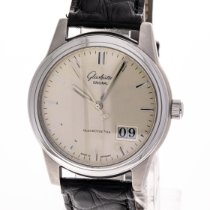 Glashütte Original Steel Automatic Silver 39mm pre-owned Senator Panorama Date