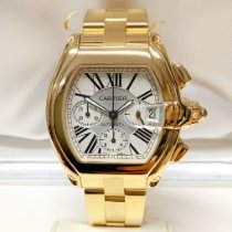 Cartier Roadster Yellow gold 47.6mm Silver Roman numerals United Kingdom, Wilmslow