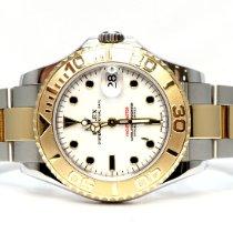 Rolex Yacht-Master Gold/Steel 35mm White No numerals