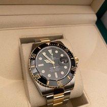 Rolex Submariner Date Gold/Steel 41mm Black No numerals
