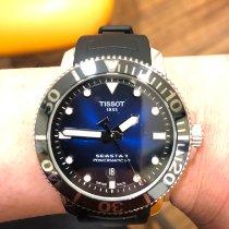 Tissot Seastar 1000 gebraucht 43mm Blau Datum Kautschuk