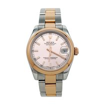 Rolex Rose gold 31mm pre-owned Oyster Perpetual Date