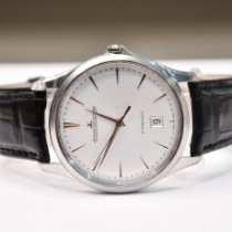 Jaeger-LeCoultre Master Ultra Thin Date Stahl 39mm Silber Keine Ziffern