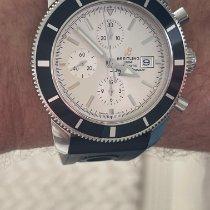 Breitling Superocean Heritage Chronograph Acier 46mm Blanc Sans chiffres
