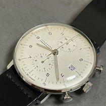 Junghans max bill Chronoscope Steel 40mm Silver Arabic numerals