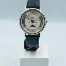 Breguet White gold Automatic Silver 36mm pre-owned Classique Complications
