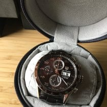 TAG Heuer Carrera Calibre 16 Steel 43mm Brown Arabic numerals