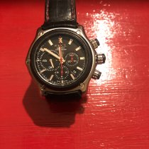 Ebel 1911 BTR pre-owned Black Chronograph Date Double-fold clasp