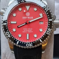 Deep Blue Steel 40mm Automatic DVR 402 BLKRED MAT pre-owned