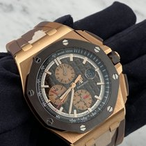 Audemars Piguet Royal Oak Offshore Chronograph Rose gold 44mm Brown No numerals